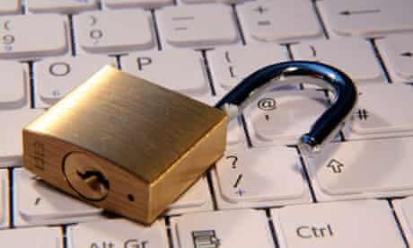 A lock on a keyboard