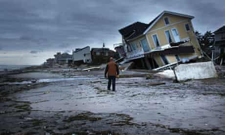 House collapsed on beach