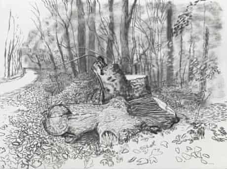 David Hockney sketch