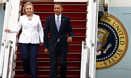 Obama and Hillary Clinton in Burma