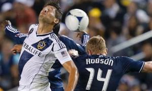 Omar Gonzalez LA Galaxy Los Angeles Galaxy Vancouver Whitecaps