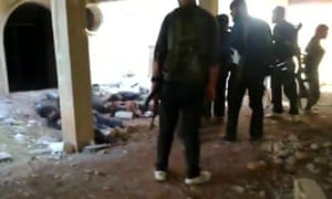 Video footage appeared to show rebels executing captured in Idlib province.