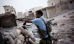 Syrian rebel in Aleppo