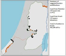 Map israel palestine