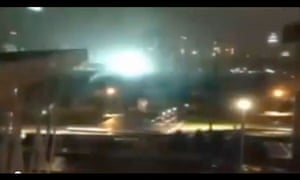 ComEd substation exploding in New York. Still from YouTube