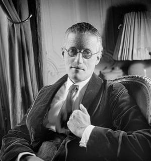 The 10 most: James Joyce (1882-1941), Irish writer. Paris, 1934