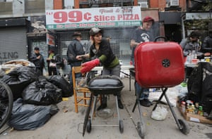 Superstorm sandy supplies: Nico DeGallo cooks food to be be distributed for free
