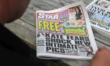 Irish Daily Star witth front-page story about the Duchess of Cambridge