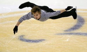 Sergei Voronov of Russia competes during the men's short programme at the Cup of China ISU Grand Prix of figure fkating in Shanghai.
