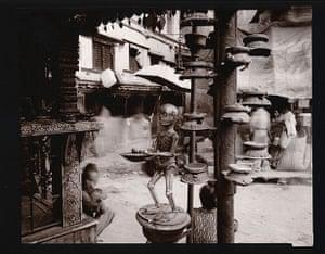 Death: Skeleton, Shrine, Kathmandu, Nepal by Linda Connor