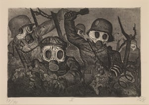 Death: Shock Troops Advance Under Gas by Otto Dix