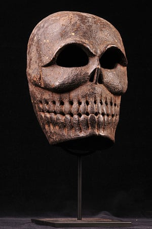 Death: Tibetan carved wooden mask, 19th Century