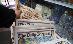 Financial Times and Telegraph in newsagent