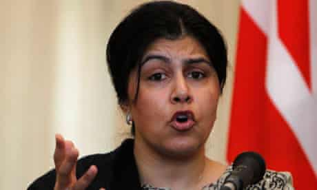 Lady Warsi, the Foreign Office minister