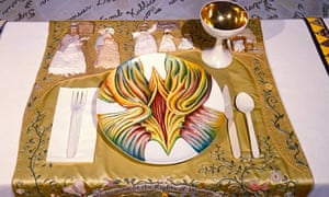 Judy Chicago: The Dinner Party – Detail Mary Wollstonecraft Placesetting