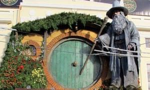 Giant statue of Gandalf in Wellington