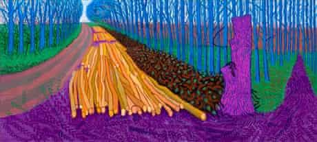 Winter Timber, 2009 © David Hockney