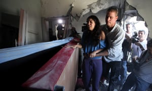 A rocket fired from Gaza hit a family's house, in Beersheba, Israel.