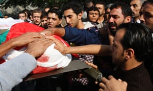 Osama Shehada, 17, funeral in the Nuseirat Refugee Camp, central Gaza Strip
