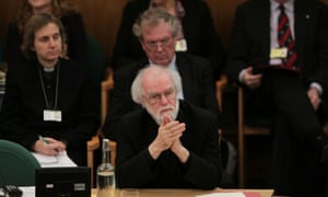 Rowan Williams, the outgoing Archbishop of Canterbury during the General Synod meeting on 20 November 2012.