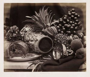 Art of Arrangement: Still Life with Ivory Tankard and Fruit, c.1860 by Roger Fenton