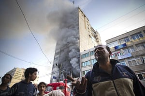 Israel Gaza : The Hamas TV station Al Aqsa in Gaza City is struck for the second time