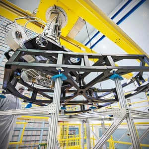 A month in Space: Webb Telescope's 'Worm Holes' in the Clean Room