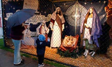 A nativity display