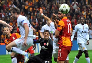 tues champs league 3: Galatasaray players and Manchester United players