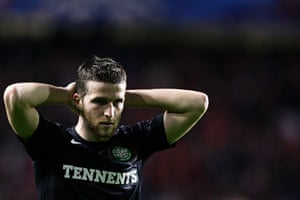 tuesday champs league 4: Celtic's Adam Matthews is dejected