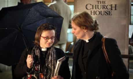 Reverends Rachel Weir and Marie-Elsa Bragg outside Church House