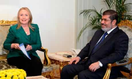 Hillary Clinton and Mohamed Morsi
