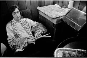 Rolling Stones: Charlie Watts with drumsticks