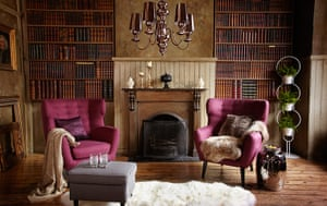 Victorian button-back chair and velvet armchair either ...