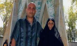 Sattar Beheshti and his mother