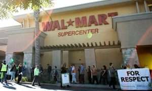 Walmart workers on strike