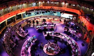 A television newsroom