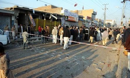 Rawalpindi bomb site in Pakistan