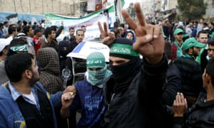 Palestinian supporters of Hamas in West Bank