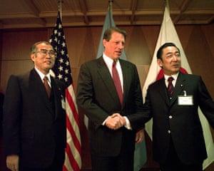 Kyoto history: Al Gore Ryutaro Hashimoto Keizo Ouchi