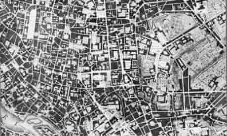 Nolli map of Rome, showing public and private spaces