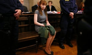 Estibaliz Carranza, a 34-year-old Mexican-Spanish woman, sits in a courtroom on the last day of her trial in Vienna. The former ice cream parlour owner confessed in court on Monday to shooting, sawing up and freezing both her ex-husband and her lover, and burying them under the cellar of her store in Vienna.