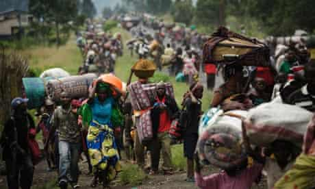 Thousands of Congolese flee the town of Sake