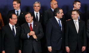 A family photo during the European Council Summit at the European Union (EU) headquarters in Brussels, Belgium, 22 November 2012.