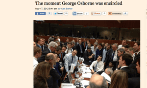 George Osborne at Brussels meeting in May