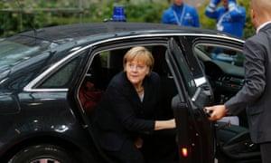 German Chancellor Angela Merkel arrives for an EU summit in Brussels on Friday, Nov. 23, 2012.