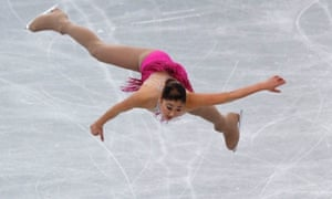 Hopefully she'll manage to land on her feet. Mirai Nagasu of Japan performs during the women's short programme at Figure Skating's Trophy event in Sendai, Japan.