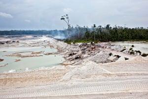 Tin Mining: Environmental destruction at a PT Timah tin ore mine in  Nudur, Bangka