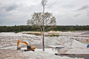 Tin Mining: PT Timah tin ore mine in Nudur, Bangka