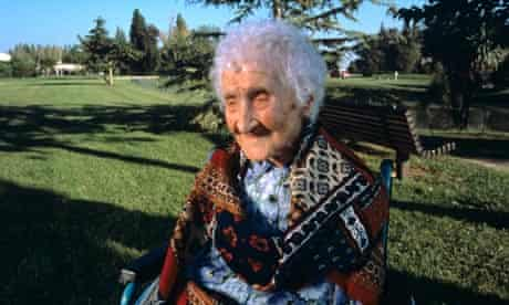 Jeanne Calment, aged 120 in 1995.